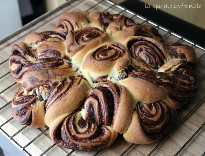 Brioche spirale infernale, ganache au chocolat pour le défiboulange