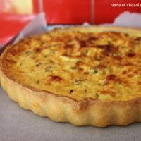 Quiche au lard et au jambon, pâte croustillante aux petits suisses de Sophie Dudemaine