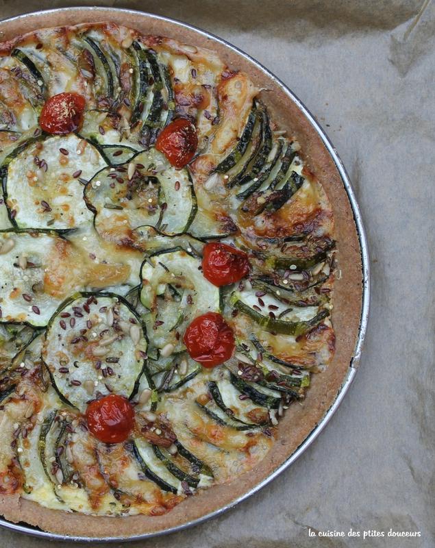 Tarte aux courgettes, comté et parmesan, pâte à tarte à l'épeautre