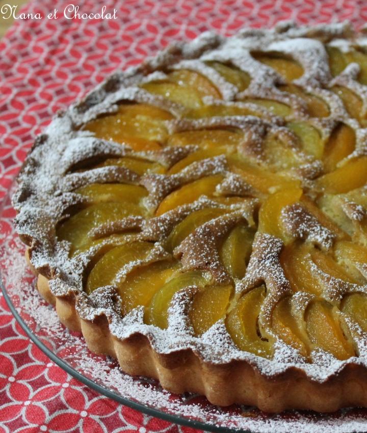 Tarte abricots, pistaches, pâte sablée au thermomix ( oupas)