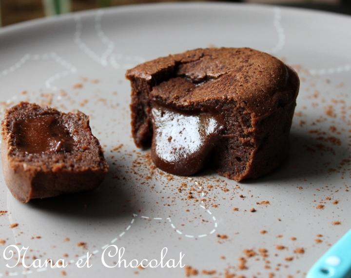 Coeur coulant au chocolat et à la pâte àtartiner