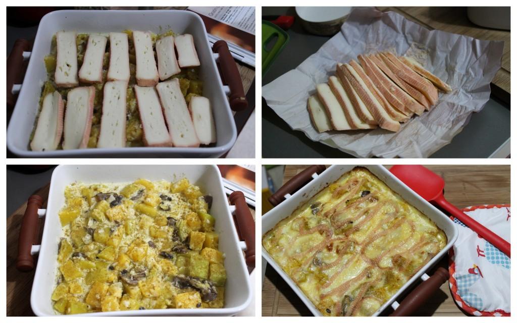 cake amande, gratin butternut
