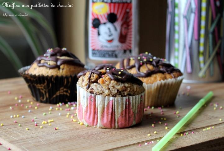 Muffins aux paillettes dechocolat