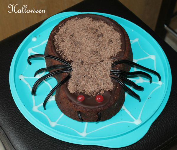 Une araignée au chocolat pourHalloween