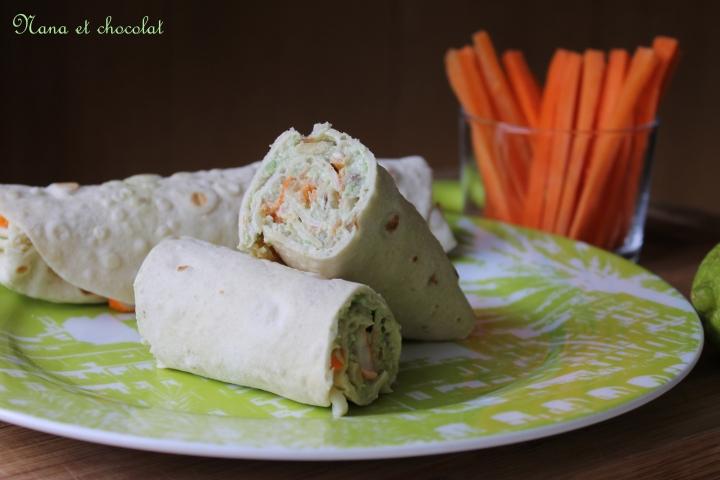 Wraps à l'avocat, surimis, citron vert et carottes pour la bataillefood#27