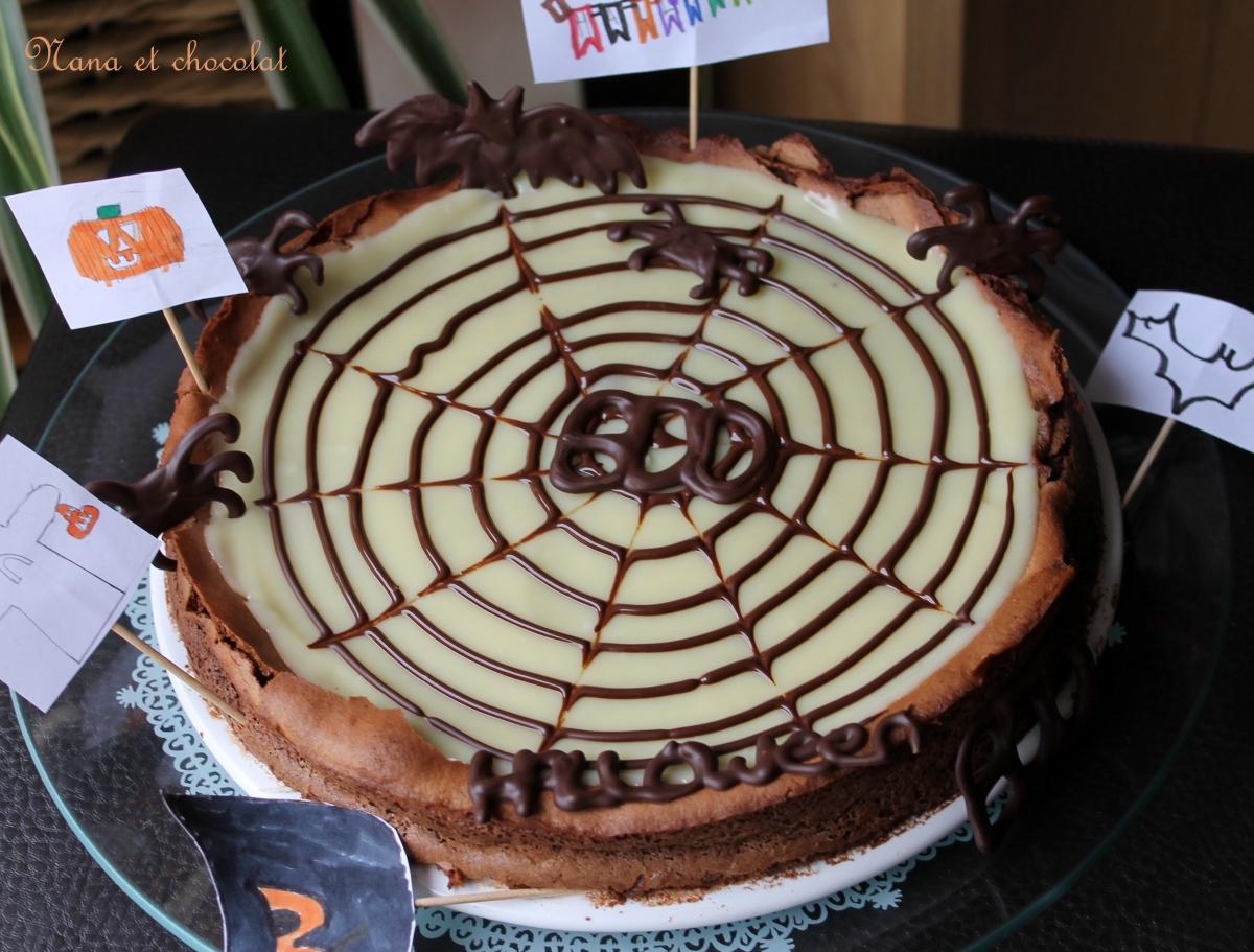 Gâteau Bellevue de Christophe Felder pour Halloween (fondant au chocolat)