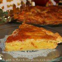 Galette des rois à la crème pâtissière et crème d'amande, pâte feuilletée express de Mercotte