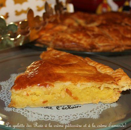 Galette des rois à la crème pâtissière et crème d'amande, pâte feuilletée express deMercotte