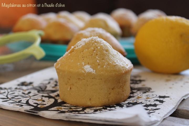 Magdalenas  (Madeleines) espagnoles au citron et à l'huiled'olive