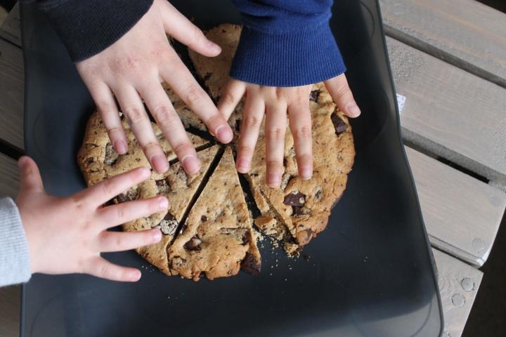 Cookie géant à partager… au beurre de cacahuète et pépites dechocolat