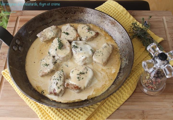 Filet mignon de porc à la moutarde et à la crème, rapide etfacile