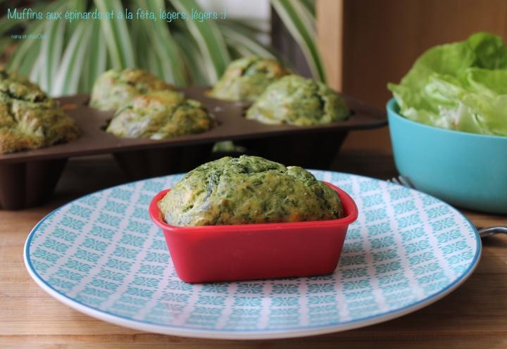 Muffins légers, aux épinards et à laféta