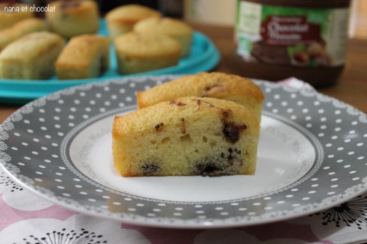 Gâteaux mousseux au coeur de pâte à tartiner ( pour utiliser les blancsd'oeuf)