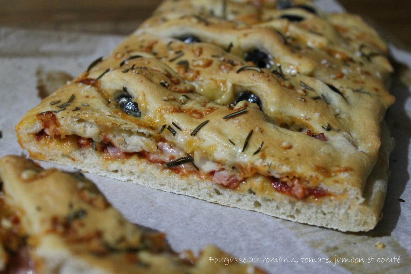 Fougasse rapide la tomate au romarin au jambon et au comt nana et chocolat - Recettes rapides 10 a 15 minutes maxi ...