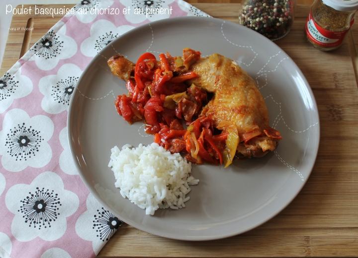 Poulet basquaise au chorizo et au piment d'Espelette