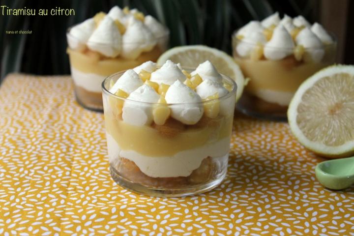 Tiramisu à la crème de citron ( lemoncurd)
