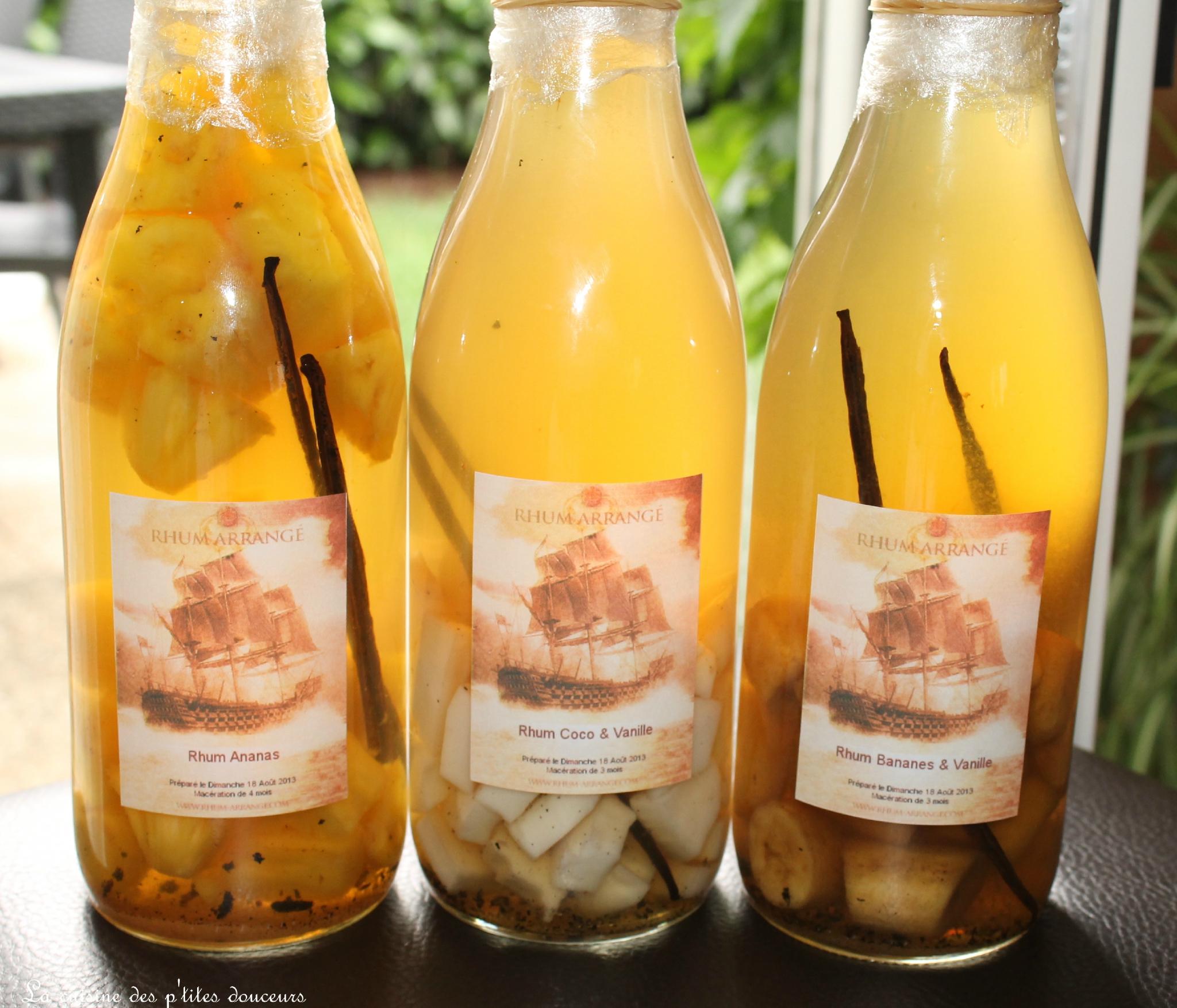Connu Rhum arrangé à la banane, à l'ananas, à la noix de coco ou à la  KD55