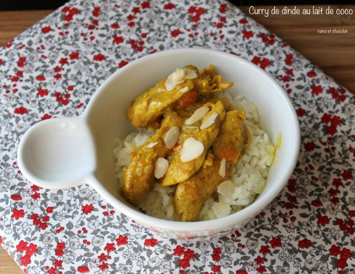 Curry de dinde au lait decoco