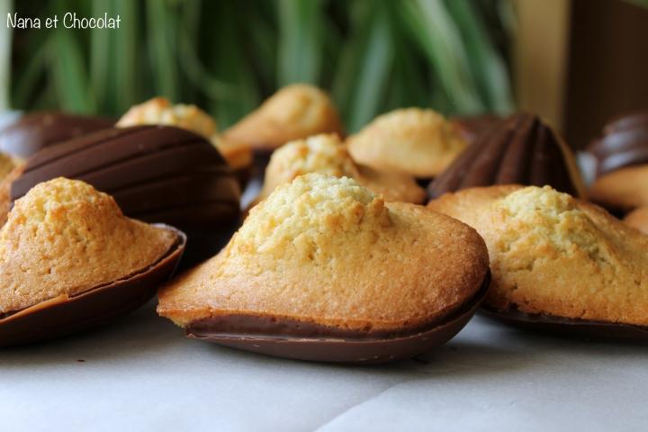 Madeleines en coques de chocolat, le goûter dumercredi…