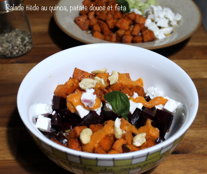 Salade tiède au quinoa et patate douce ( veggie bowl)