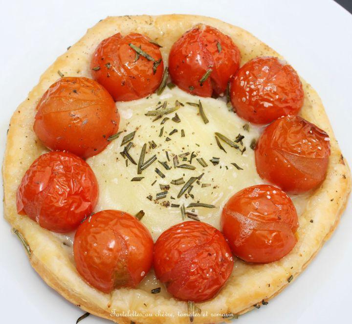Tartelettes au chèvre, tomates cerises et romarin ( trèsfaciles)