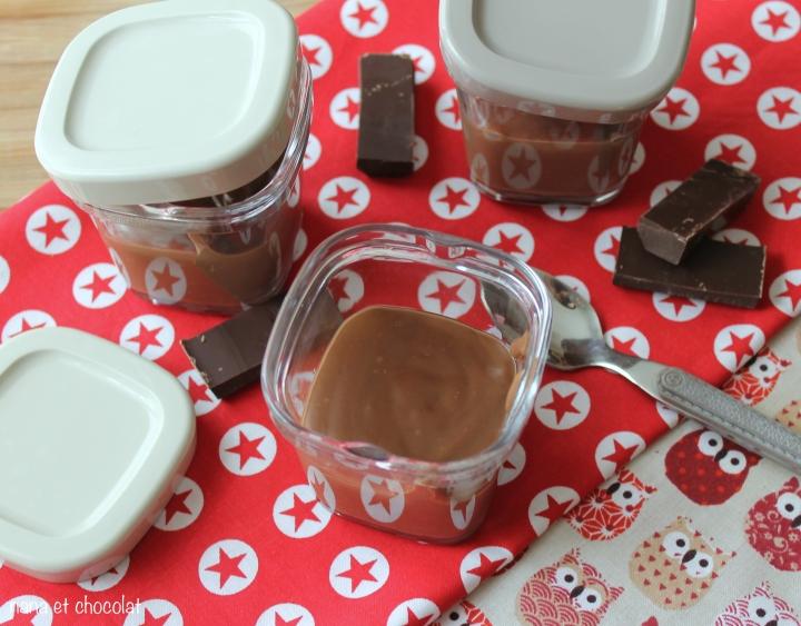 Petites crèmes au chocolat sans oeufs ( au thermomix ou pas)
