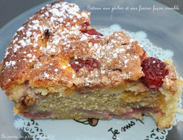 Gâteau aux fraises et aux pêches de SophieDudemaine