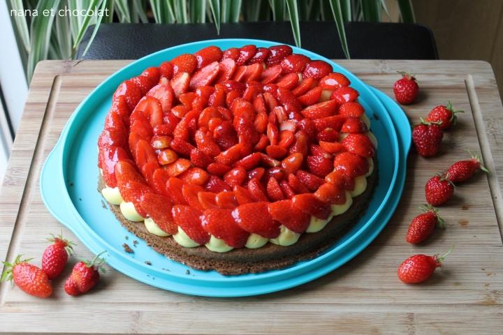 Tarte aux fraises sur sablé breton ( et crème pâtissière deC.Michalak)