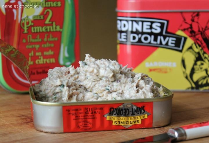 Rillettes de sardines à laciboulette
