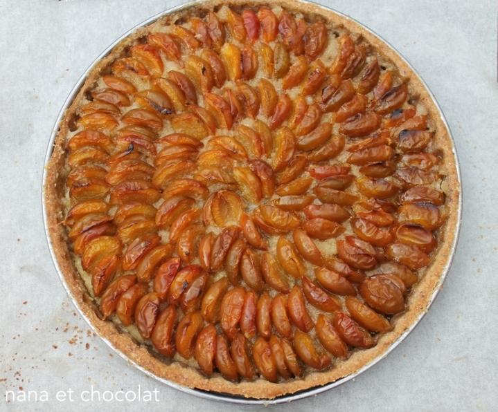 Tarte aux mirabelles et pâte à tarte auxnoisettes