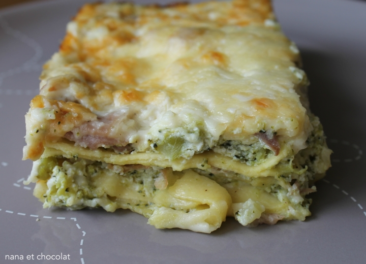 Lasagnes à la ricotta, brocolis et jambonitalien