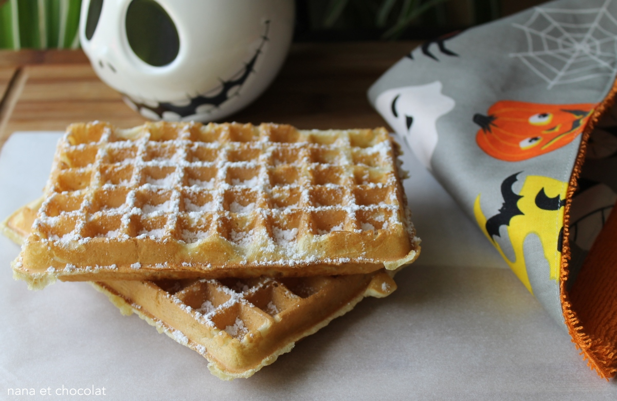 Gaufres croustillantes sans beurre nana et chocolat - Recette de gaufre sans beurre ...