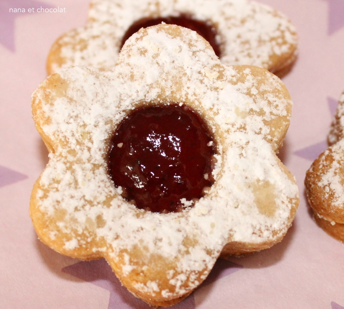 Bredele  à la confiture ou au chocolat ( biscuits sablés )