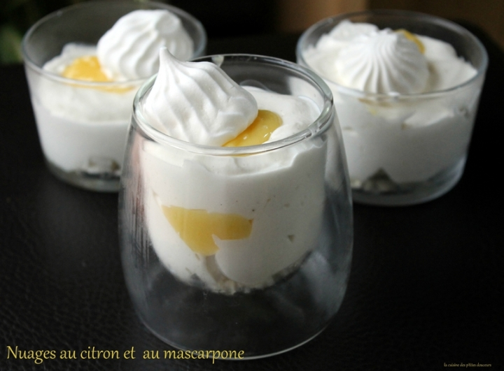 Verrines au Lemon curd et chantilly au mascarpone