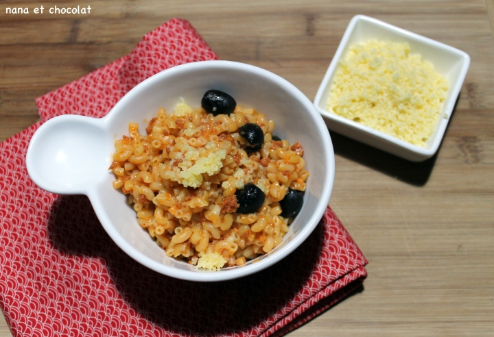 One pot pasta : Coquillettes au chorizo et au comté, recette auThermomix