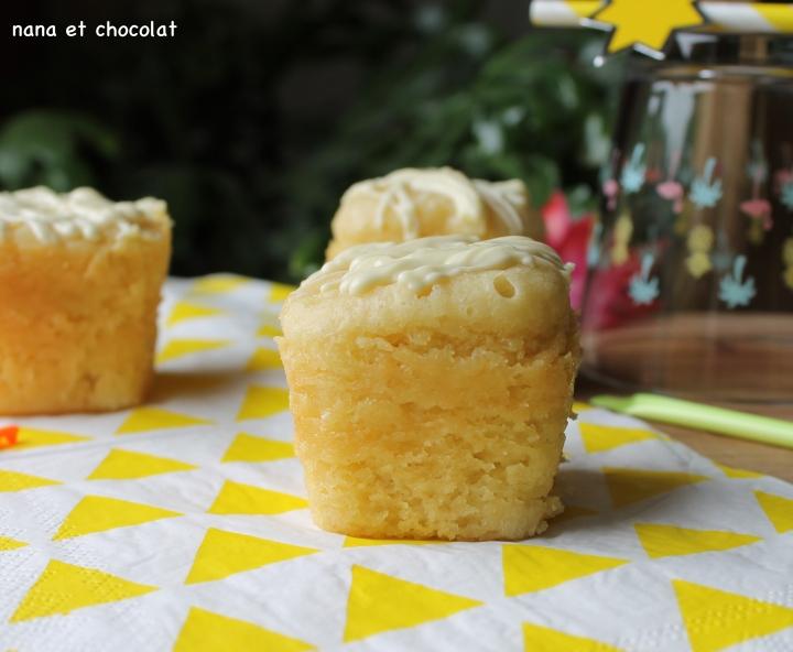 Petits gâteaux au yaourt et au chocolat blanc dans la Multi-Délices ( cuissonvapeur)