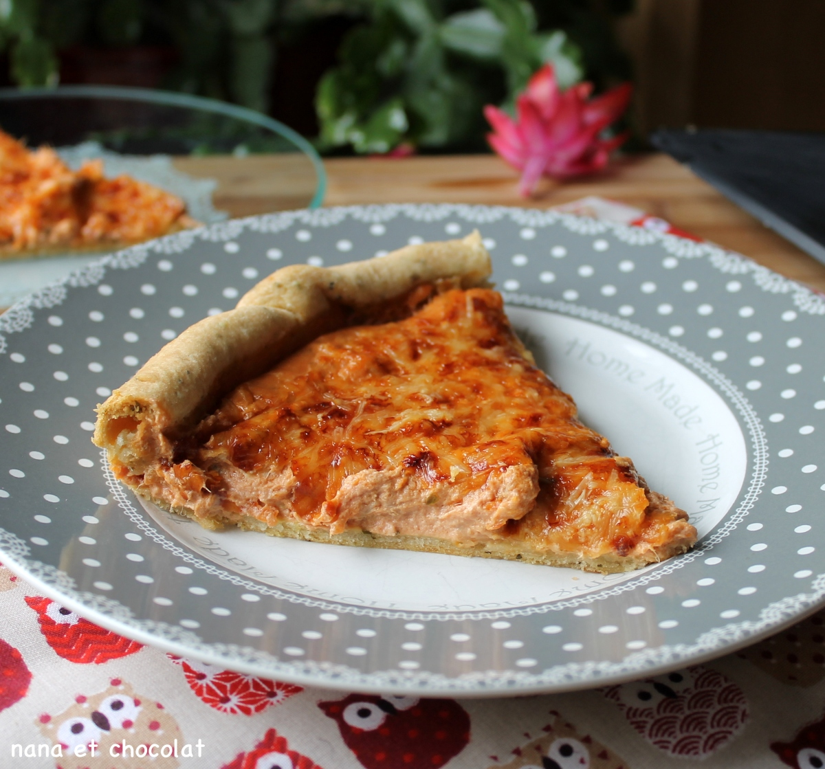 Tarte au thon, à la tomate et au fromage frais. ( Au Thermomix ou pas)