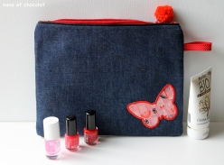 trousse papillon rouge