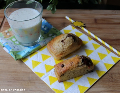 Petits cakes sans beurre à la compote de pomme et pépites de chocolat ( à glisser dans le cartable)