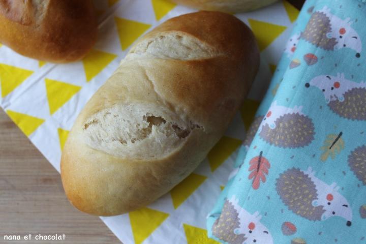 Petits pains au lait et à la crème ( Hokkaido milkbuns)