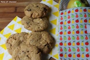 Cookies à la farine d'épeautre complète et pépites de chocolat, à glisser dans lecartable
