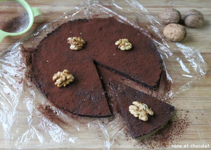 Raw brownie ( brownie cru sans cuisson et sans sucre ajouté, pour faire le plein d'énergie)