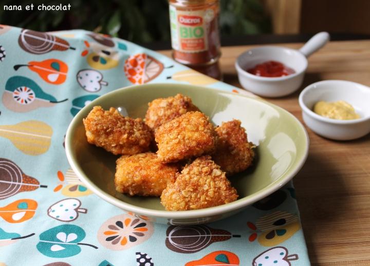 Nuggets de poulet aux flocons d'avoine et aupaprika