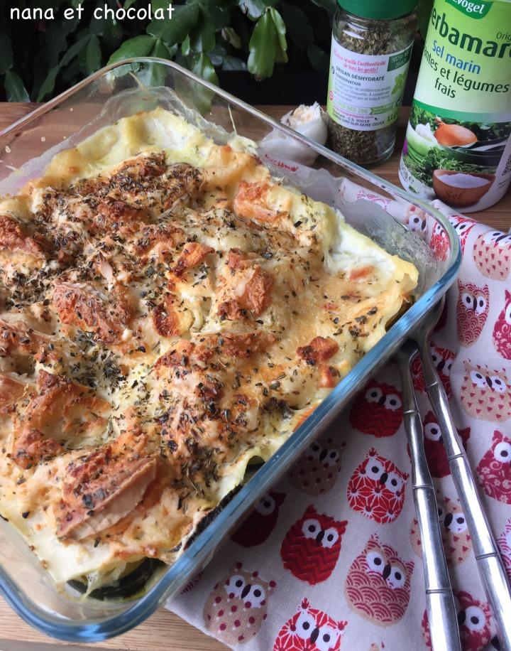 Lasagnes aux courgettes, chèvre et crème d'amandes ( recettevégétarienne)