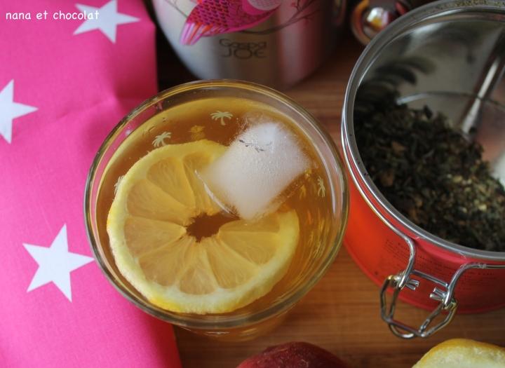 Thé glacé à la pèche et aucitron