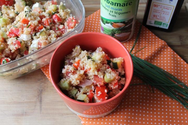 Salade de quinoa aux légumesgrillés