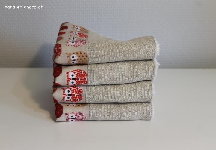 serviettes hibou