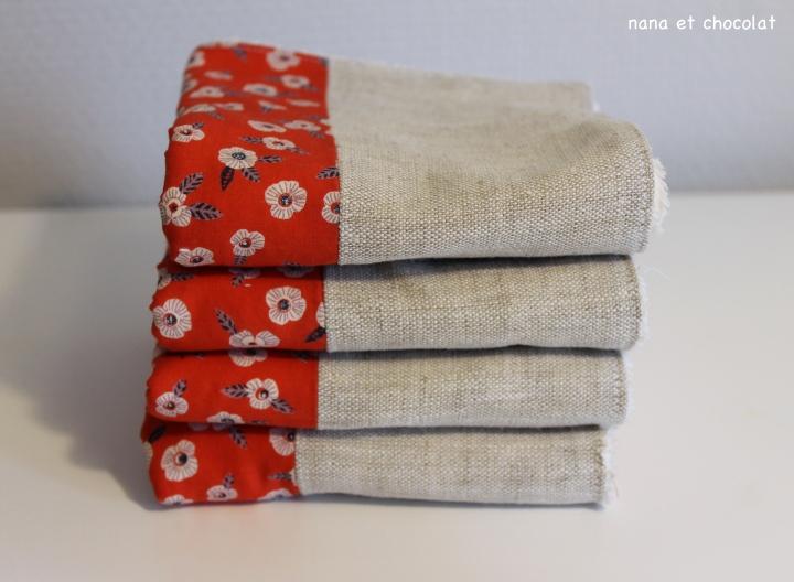 Zéro déchet #2 mes serviettes de table en lin etcoton