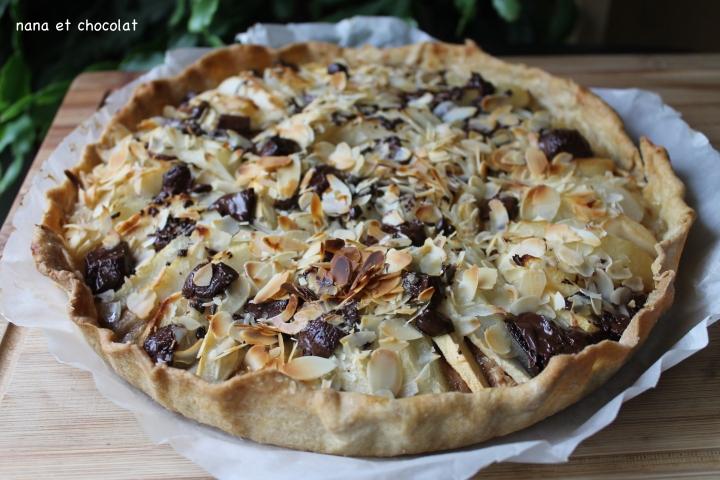 tarte aux poires et chocoloat