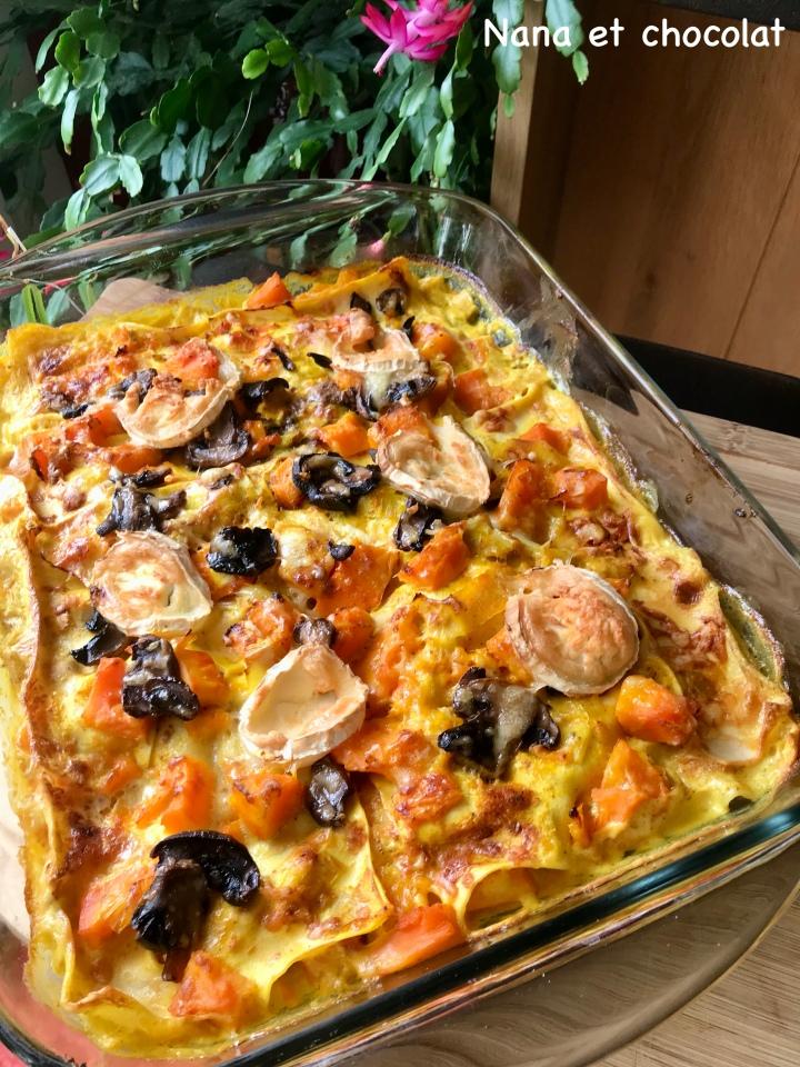 Lasagnes au potimarron et auchèvre